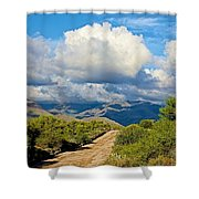 Stormy Day In The Desert Shower Curtain