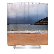 Stormy Day On The Beach Shower Curtain