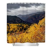 Stormy Fall Along The Alpine Loop - Utah Shower Curtain