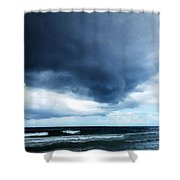 Stormy - Gray Storm Clouds By Sharon Cummings Shower Curtain