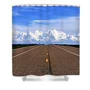 Stormy Highway Shower Curtain