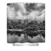 Stormy Lake Trafford Shower Curtain