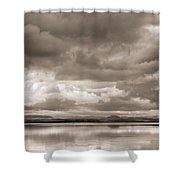 Stormy Lake Vintage Shower Curtain