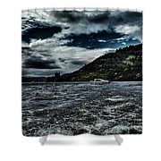 Stormy Loch Ness Shower Curtain