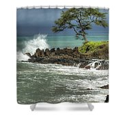 Stormy Maui Morning Shower Curtain