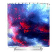 Stormy Monday Blues Shower Curtain