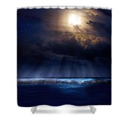 Stormy Moonrise Shower Curtain