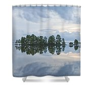 Stormy Morning On The Lake Shower Curtain