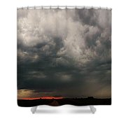 Stormy Nebraska Sunset Shower Curtain