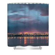 Stormy Night Lights Shower Curtain