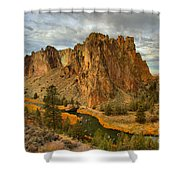Stormy Over Smith Rock Shower Curtain