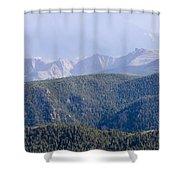 Stormy Pikes Peak Shower Curtain