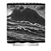 Stormy Rock Shower Curtain