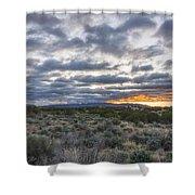 Stormy Santa Fe Mountains Sunrise - Santa Fe New Mexico Shower Curtain