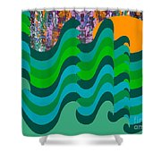 Stormy Sea Shower Curtain by Patrick J Murphy
