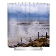 Stormy Seafront - Impressions Shower Curtain
