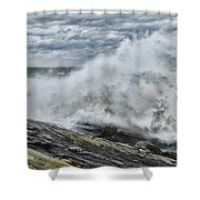 Stormy Seas Shower Curtain