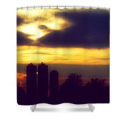 Stormy Silhouette Sunset Shower Curtain