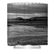 Stormy Skies At Seaton Sands Shower Curtain