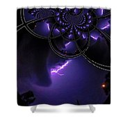 Stormy Skies Illusion Shower Curtain
