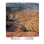 Stormy Skies In Canyonlands Shower Curtain