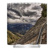 Stormy Skies On Moro Rock Shower Curtain