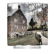 Stormy Skies Over The 1823 Grist Mill Shower Curtain