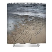 Stormy Skies Over The North Sea Shower Curtain