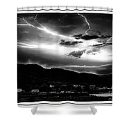 Stormy Sky - Lightening - Small Town Shower Curtain