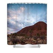 Stormy Sky Over Uluru Shower Curtain