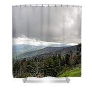Stormy Smoky Mountains Shower Curtain