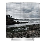 Stormy South Beach Shower Curtain