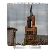 Stormy Steeple Shower Curtain
