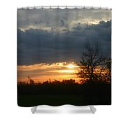 Stormy Sunrise Shower Curtain