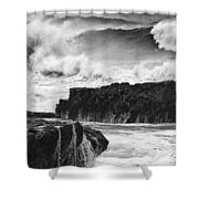 Stormy Surf Shower Curtain