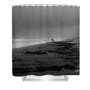 Stormy Surf Spot Shower Curtain