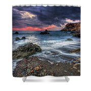 Stormy Winter. Shower Curtain