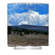 Stormy Wyoming Fall Shower Curtain