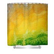 Stormy Mesa Original Painting Shower Curtain