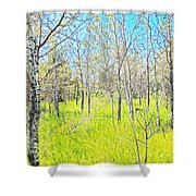 Storybook Aspens Shower Curtain