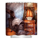 Stove - The Stove And The Chair  Shower Curtain by Mike Savad