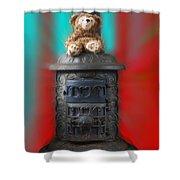 Stove Top Bear Shower Curtain