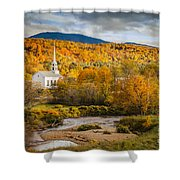 Stowe Church At Sunset Shower Curtain
