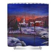 Stowe - Vermont Shower Curtain by Anastasiya Malakhova