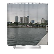 St.petersburg Bayfront From Pier Shower Curtain
