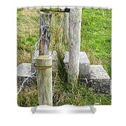 Straddle The Fence Shower Curtain