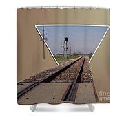 Straight As A Rail Shower Curtain