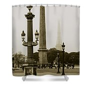 Straight Lines In Paris Shower Curtain
