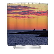 Straitsmouth Lighthouse Sunrise Shower Curtain