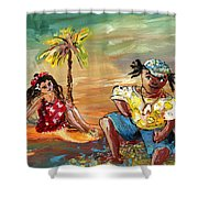 Stranded In Tahiti Shower Curtain